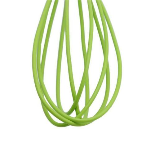 New Handle Whisk silicone Kitchen Mixer Balloon Wire Egg Beater Tool SL