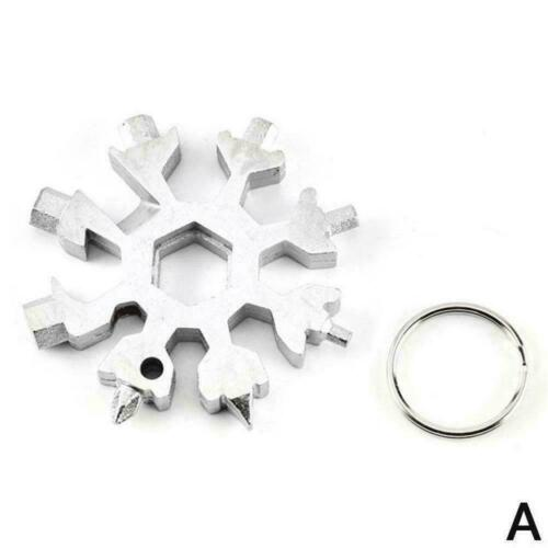 18in1 EDC Multi Tool Kartenkombination Portable Outdoor Product SnowflakeTo N0X6