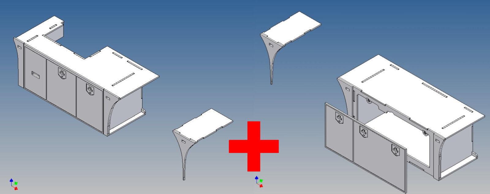 S3vr+ls - - - vollprofilstaukisten pour TAMIYA SCANIA 3-Achser m1:14 RE + li M. lenks c58216