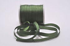 7mm  100%  Silk  Ribbon / Embroidery   Forest  Green
