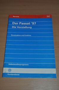 Service & Reparaturanleitungen Hart Arbeitend Selbststudienprogramm Ssp 191 Vw Der Passat ´97 Die Vorstellung 1996 üBerlegene Leistung