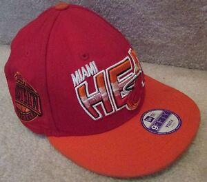 save off 8ffcb e7495 Image is loading NBA-Miami-Heat-Baseball-Hat-Cap-New-Era-
