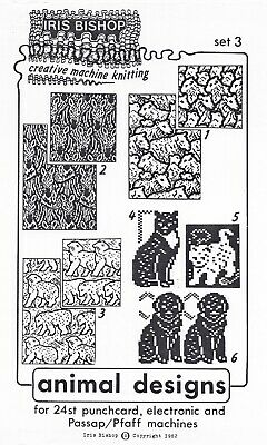 Iris Bishop Animal Designs Set 3 Designs For Punchcard Elec Mach Ebay