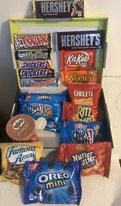 Snacks-Package-19-Variety-of-Chips-Cookies-Crackers-amp-Candy-Bars-Munchies-Pack