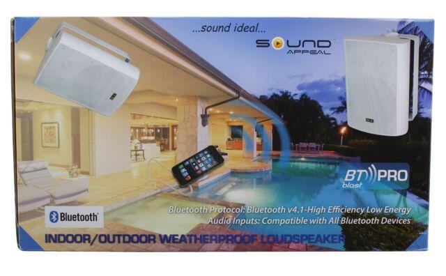 Bon Sound Appeal Blast Pro Wireless Outdoor Weatherproof Speakers (Pair)   White