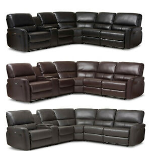Swell Details About Black Brown Gray Leather Power Reclining Theater Sectional Sofa Usb Ports Cups Ibusinesslaw Wood Chair Design Ideas Ibusinesslaworg