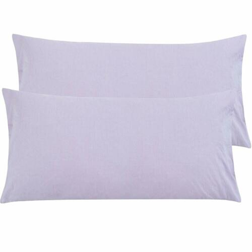 """Washed Cotton Ultra Soft Pillow Cases Pillowcases Pillow Cover King Size 20/""""x36/"""""""