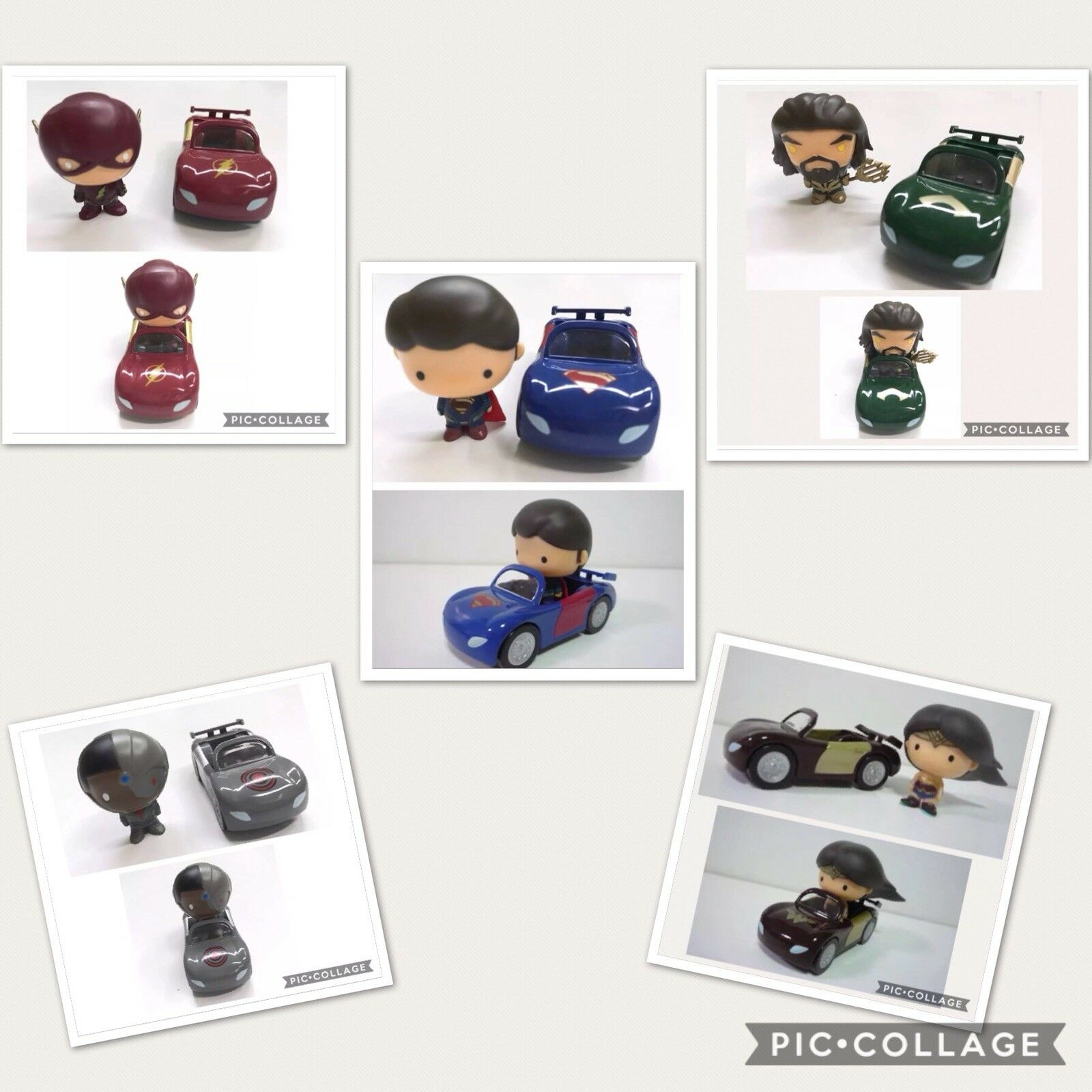Justice League Mini Car Collection All In Except Batman Cute Gift Boys