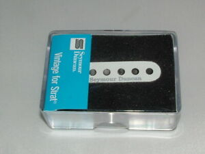 Seymour-Duncan-SSL-1-Vintage-Staggered-for-Strat-Pickup-WHITE-New-Warranty