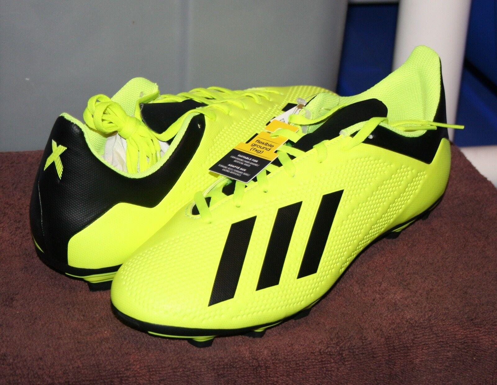 ADIDAS X 18.4 FG SZ 6.5 Men's Soccer Cleats Yellow