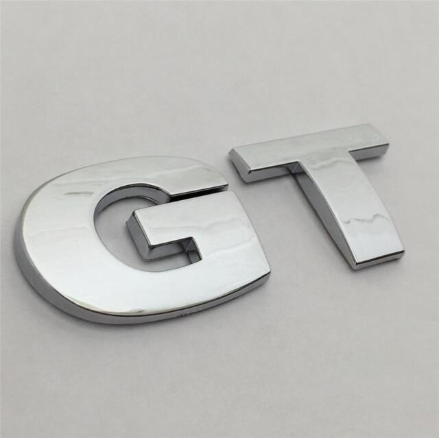 Gt Car Badge Emblem Logo Vw Golf Pat Cc Rear Boot Tailgate Sticker Fsi Tdi