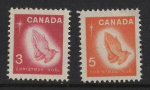 CANADA NO 451 TO 452, CHRISTMAS 1966: PRAYING HANDS -  Albrecht Dürer,  MINT NH