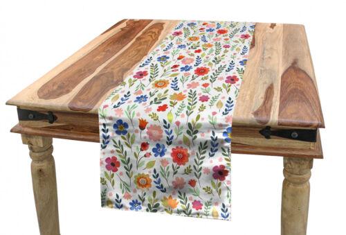 Aquarell Tischläufer Blumenillustrationen