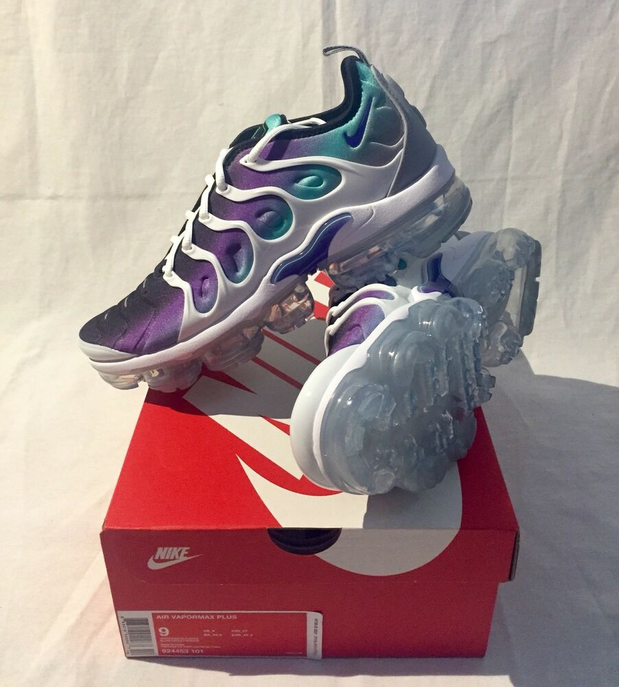 Nike Air VaporMax Plus Grape blanc Fierce Violet Green 924453-101 Taille 9