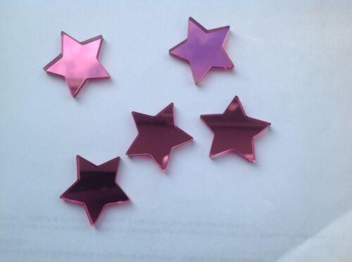 Rose étoile Acrylique Miroir Embellissements 3 cm X 20.