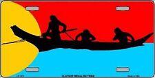 "Clatsop-Nehalem Tribe Flag Novelty 6"" x 12"" Metal License Plate Auto Tag Sign"