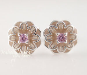 Blooming dahlia authentic pandora pink enamel flowers earring studs image is loading blooming dahlia authentic pandora pink enamel flowers earring mightylinksfo