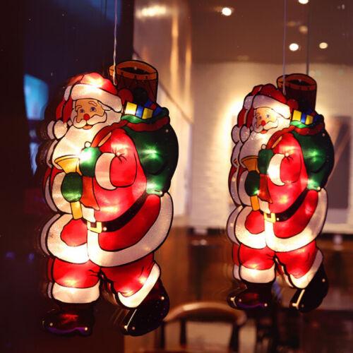 PVC Light Up Christmas Silhouette Window Suction Decoration Xmas LED Lights