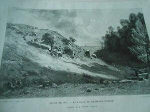 Gravure 1882 - Le Vallon De Pierre Fol Dans La Creuse
