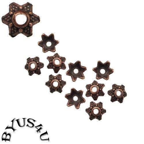 3 colours 25//50//100 Tibetan Star Flower Bali Bead Caps 7mm Jewellery /& Crafts