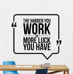 image is loading quotewalldecalworkbusinessmotivationofficevinyl office wall decal l83 decal
