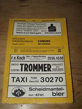 Telefonbuch für COBURG u. Umgebung, 1970/71,180 Seiten,Adressbuch,Fernsprechbuch