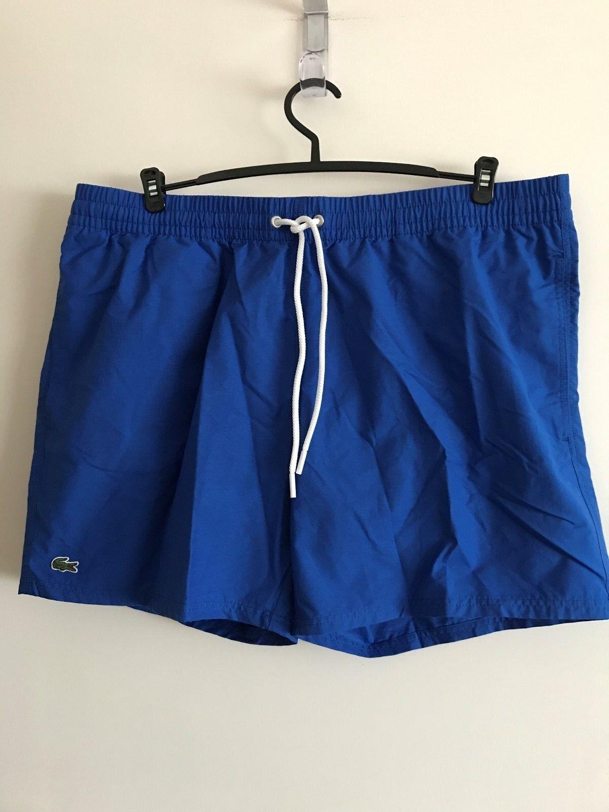 NWT LACOSTE CROC LOGO MENS SWIM TRUNKS SHORTS blueE Sz L, XL