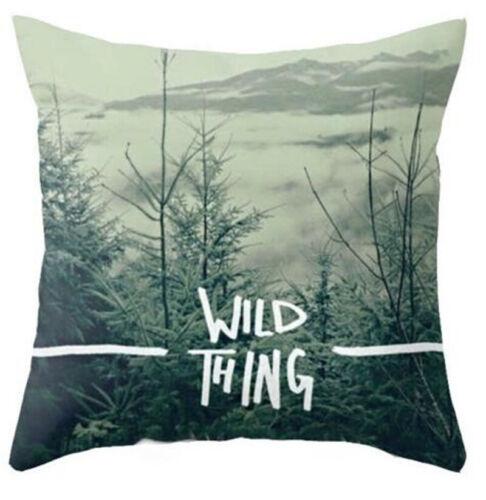 "18/"" Vintage Linen Cushion Cover Waist Throw Pillow Case Cover Sofa Home Decor"