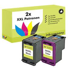 2x PATRONEN für den HP 302 XL OfficeJet 4654 3830 4650 DeskJet 2130 3630 1110