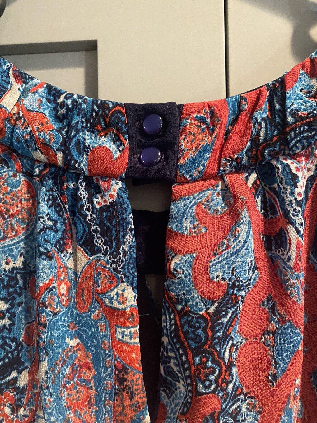 Cb Established 1962 Dress Sz 10 Red & Blue Sheer … - image 10