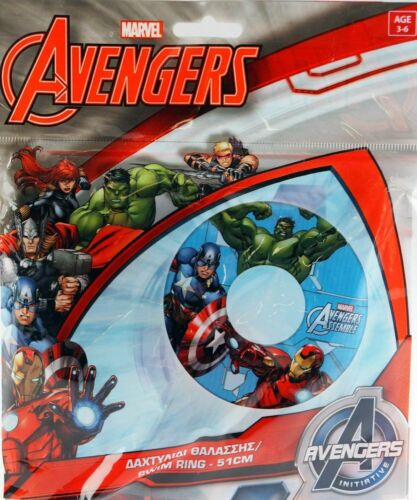 MARVELS AVENGERS INFLATABLE SWIMMING POOL ARM BANDS SWIMMING RING /& GOGGLES