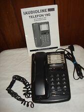 Telefon Audioline 19G + Anleitung _schwarz _funktionstüchtig_Wandmontage möglich