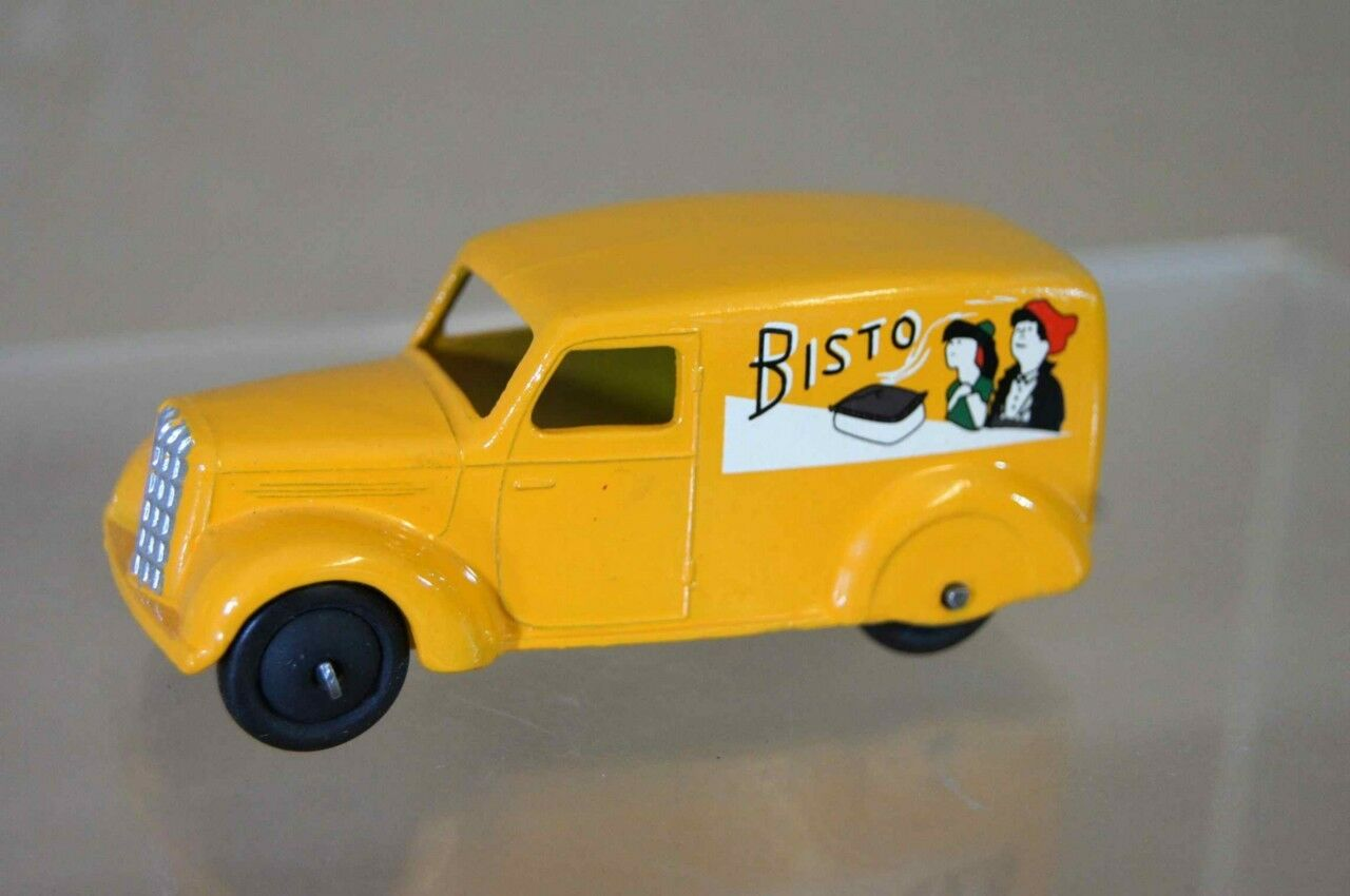 DINKY 280d PRE WAR 280 SERIES DELIVERY VAN TYPR 3 BISTO YELLOW RESTORED mv