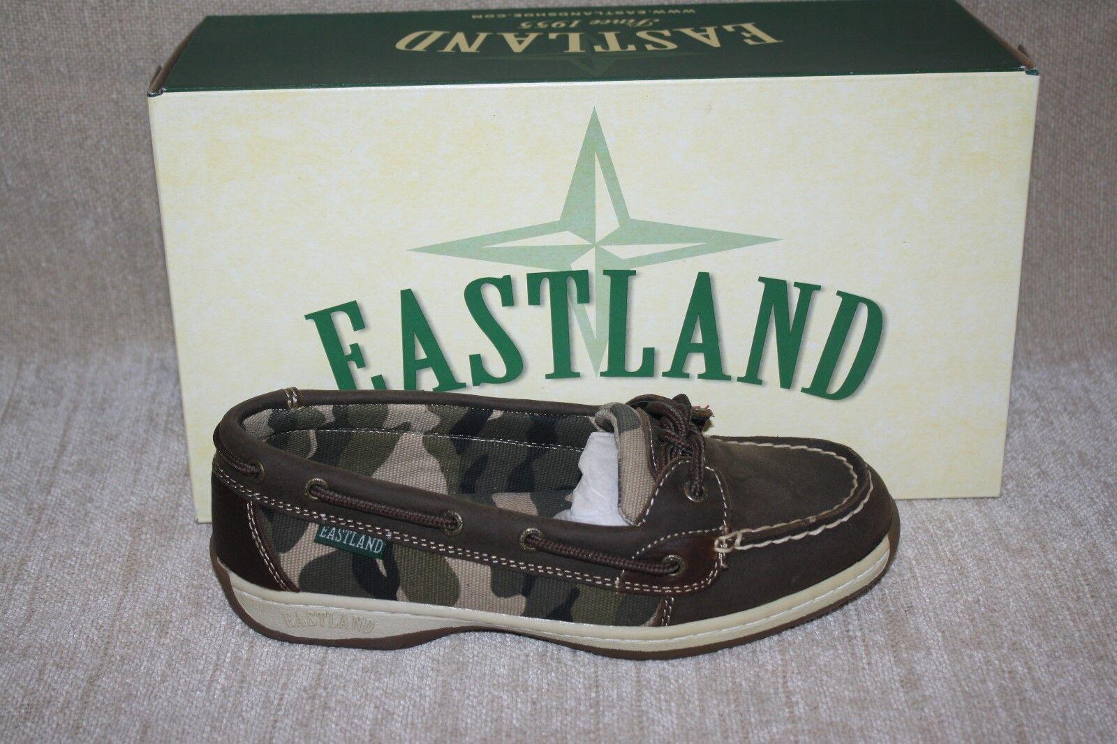 Damenschuhe EASTLAND OLIVE CAMO SUNRISE BOAT Schuhe-MULTIPLE SIZES (B140)