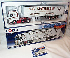 Volvo FH Curtainside Trailer V G Mathers ltd 1-50 scale new in box cc16003
