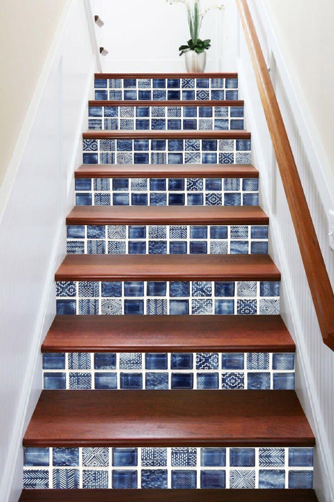 3D Edles Edelstein Blau 0 Fliesen Marmor Stair Risers Vinyl Tapete Fototapete DE