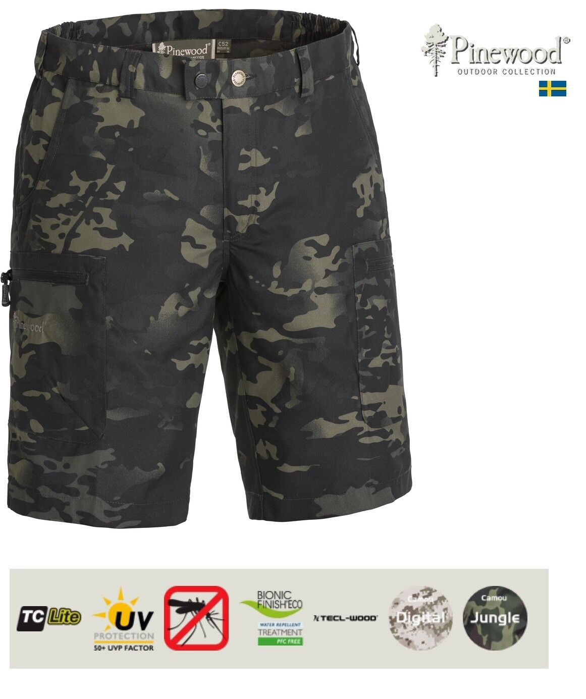 PINEWOOD  Caribou Camou TC  Shorts  very popular
