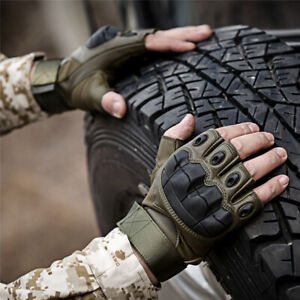 Microfiber-Soft-Half-Finger-Tactical-Gloves-Fitness-Sports-Outdoor-Men-Gloves-n