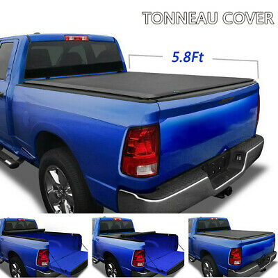 For 07 18 Chevy Silverado Gmc Sierra 1500 5 8ft Bed Soft Roll Up Tonneau Cover Truck Bed Accessories Motors