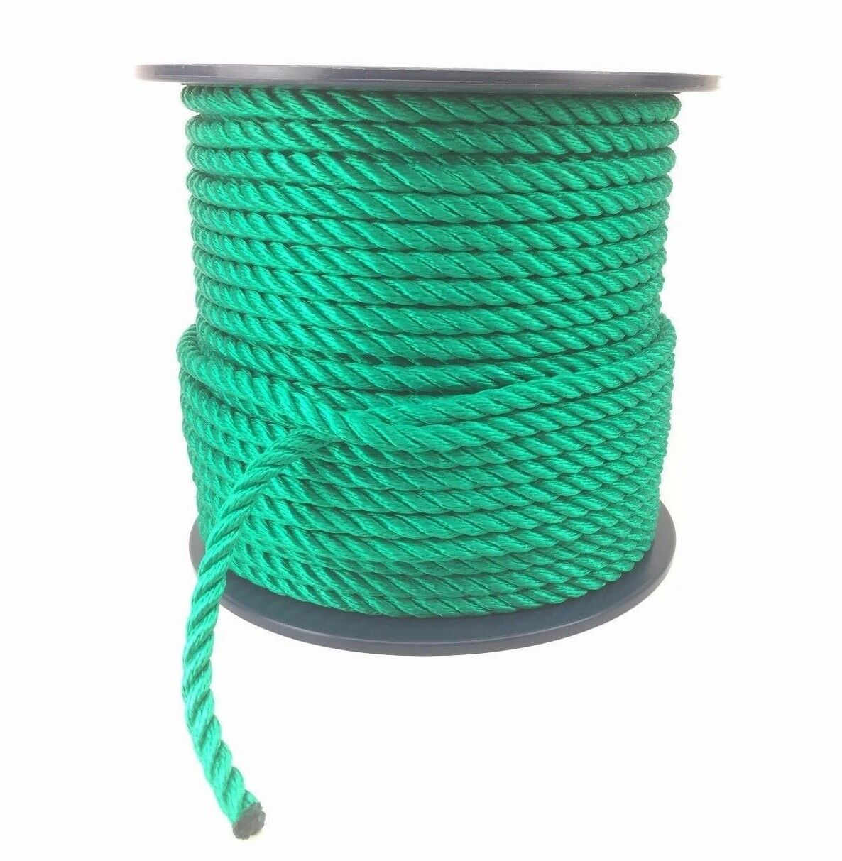3 Strand Green Multifilament 8mm (Floating Rope) x 220 Metre Reel, Boats Yachts