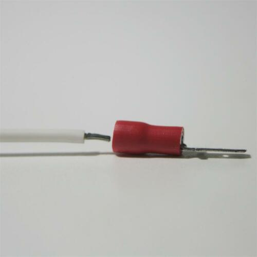 100 cable zapatos-conector plano en rojo 2,8 x 0,5mm para 0,5-1,5mm² Cable Enchufe zapato