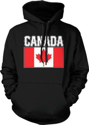 Canada Text Flag Maple Leaf Canadian Pride Fierté Canadienne Hoodie Pullover
