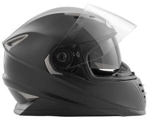 Raccordate-480-Casco-Moto-in-ABS-nero-opaco-con-parasole-integrato