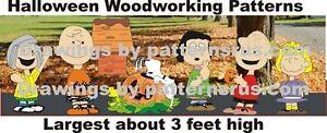 Whimsical Halloween Yard Art Woodworking 7 Pattern In Set Plan Ebay