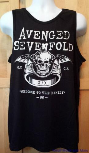 """2XL NEW AVENGED SEVENFOLD Shirt//Tank Top /""""Welcome To The Family /"""" Licensed S"""