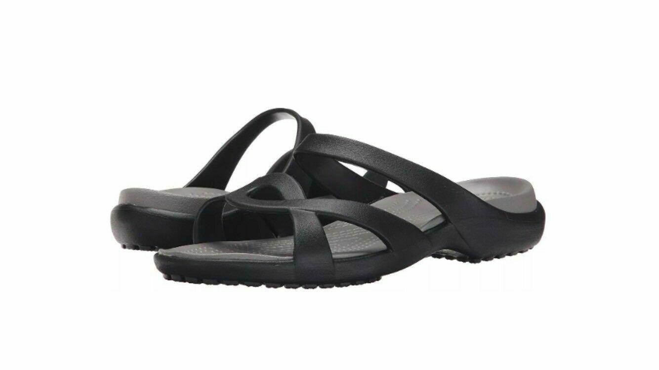 Crocs Size 8 Black Sandals New Womens Shoes