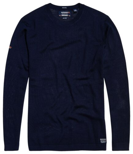 Superdry Merino Crew Dark Cavern Navy