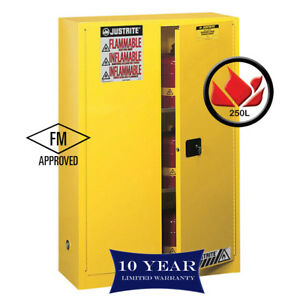 250L-Dangerous-Goods-Storage-Flammable-Liquid-Safety-Cabinet-10Yr-Wty-FireResis