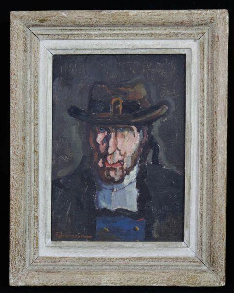100% Vrai Fernand Jeanneau (1884-1966) Portrait De Breton Hsi Ecole De Pont Aven Quimperlé Soulager Le Rhumatisme