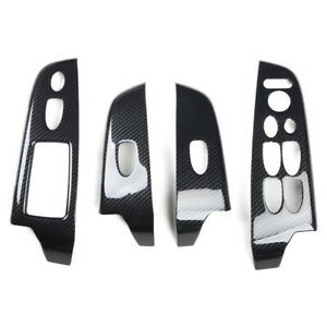 ABS-Carbon-Fiber-Style-Window-Lift-Switch-Button-Panel-For-Honda-Civic-2006-2011
